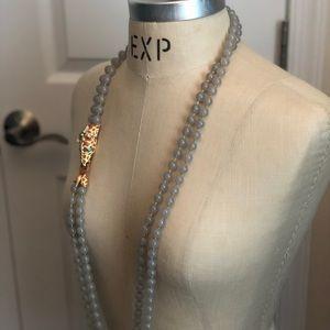 Jcrew double strand beaded resin giraffe necklace